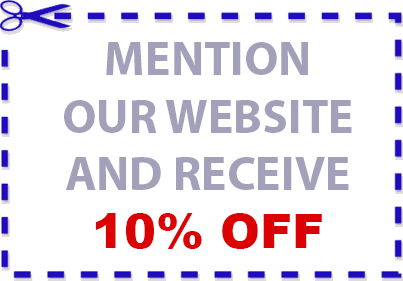 Mention Website and Receive 10% OFF